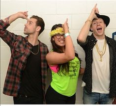 Why yes, that is Macklemore and Ryan Lewis throwing up the Unicorn horn!